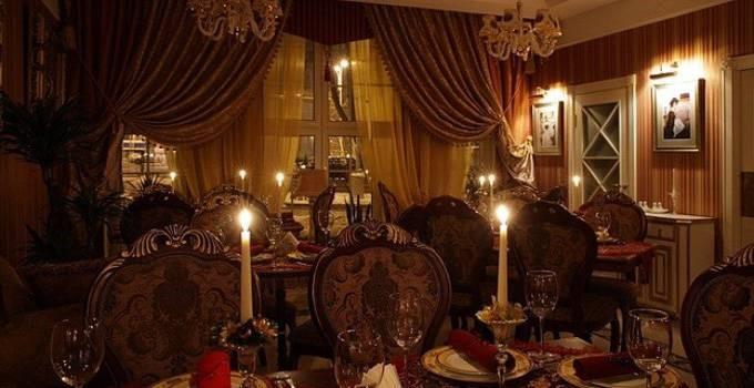 Оформление интерьера ресторана в классическом стиле